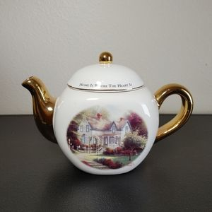 Thomas Kinkade Home Is Where the Heart Is teapot